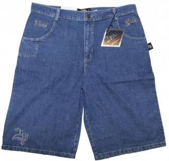 2Pac Skateboard Herren Jeans Shorts Mid Blue - Vorschau 2