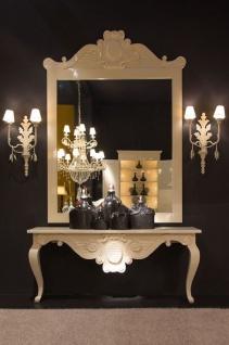 Casa Padrino Luxus Barock Konsole Weiß 200 x 45 x H. 85 cm - Handgefertigter Massivholz Konsolentisch - Barock Hotel Möbel - Luxus Qualität - Vorschau 2