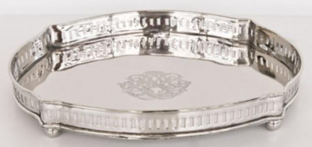 Casa Padrino Luxus Serviertablett Silber 30 x 23 x H. 5 cm - Gastronomie Accessoires