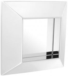 Casa Padrino Luxus Spiegel Silber 31 x 7 x H. 31 cm - Edelstahl Wandspiegel - Vorschau 1