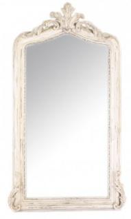 Casa Padrino Luxus Barock Wandspiegel Antik Creme 150 x 75 cm - Massiv und Schwer - Spiegel