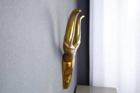 Designer Geweih Style Shine Deko Hirsch aus poliertem Aluminium gold - Wandfigur - Geweih - Wandgeweih - Vorschau 4