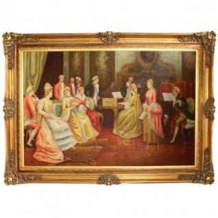 Riesiges Handgemaltes Barock Öl Gemälde Konzert Mod.3 Gold Prunk Rahmen 225 x 165 x 10 cm - Massives Material