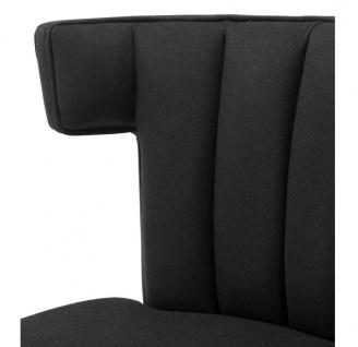 Casa Padrino Luxus Sessel Schwarz - Designer Möbel - Vorschau 4