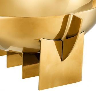 Casa Padrino Luxus Edelstahl Schale Gold 30 x 25 x H. 11, 5 cm - Obstschale Schüssel - Hotel & Restaurant Deko Accessoires - Vorschau 4