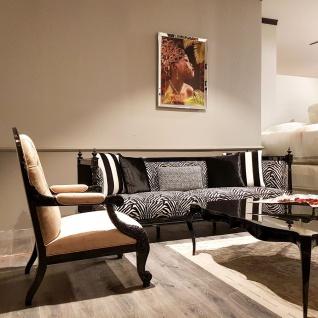 Casa Padrino Luxus Barock Sofa Zebra / Schwarz - Handgefertigtes Wohnzimmer Sofa im Barockstil - Edle Barock Wohnzimmer Möbel - Vorschau 4