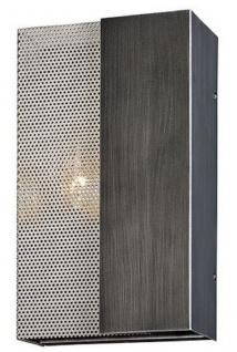 Casa Padrino Luxus Wandleuchte Graphit / Silber 17, 8 x 10, 2 x H. 30, 5 cm - Hotel & Restaurant Lampe