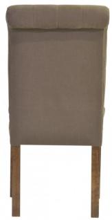 Casa Padrino Designer Esszimmer Stuhl ModEF 16 Braun-Grau / Braun - Hoteleinrichtung - Buchenholz - Chesterfield Design - Vorschau 4