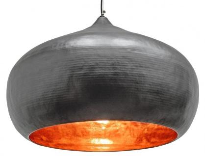 Casa Padrino Luxus Hängeleuchte Grau Ø 85 x H. 60 cm - Moderne Pendelleuchte im Industrie Design
