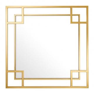 Casa Padrino Designer Wandspiegel Gold 90 x H. 90 cm - Luxus Spiegel