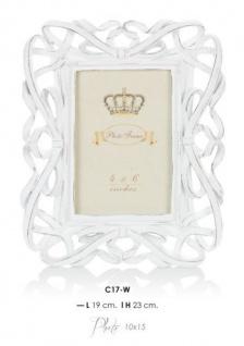 Casa Padrino Barock Bilderrahmen Weiß Antik Stil 23 x 19 cm - Bilder Rahmen Foto Rahmen Jugendstil Antik Stil Mod AX8