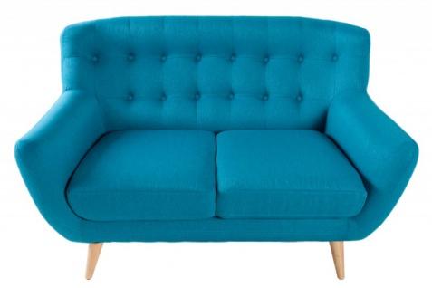 Chesterfield 2er Sofa blau aus dem Hause Casa Padrino - Wohnzimmer Möbel - Couch - Vorschau 2