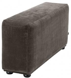 Casa Padrino Luxus Armlehne mit Microfaser Stoff Grau / Schwarz 33 x 109 x H. 55 cm - Wohnzimmer Möbel