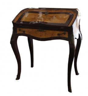 Casa Padrino Barock Sekretär Mahagony Braun - 74 x 45 x H 88 cm - Sekretär Antik Stil