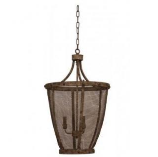 Casa Padrino Hängeleuchte Deckenleuchte Bronze Industrial Design Durchmesser 46 x H 75 cm - Industrie Lampe Leuchte Industrieleuchte
