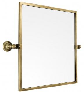 Casa Padrino Luxus Wandspiegel Vintage Messingfarben 45 x 7, 5 x H. 45 cm - Luxus Qualität