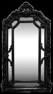 Casa Padrino Barock Wandspiegel Silber 115 x H. 215 cm - Prunkvoller Barock Spiegel mit wunderschönen Verzierungen - Möbel im Barockstil