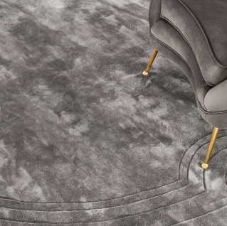 Casa Padrino Luxus Viskose Teppich Grau Ø 280 cm - Handgewebter runder Wohnzimmer Teppich - Luxus Qualität - Vorschau 4