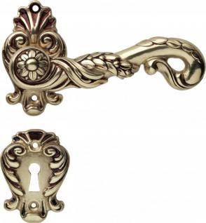 Casa Padrino Luxus Jugendstil Türbeschlag Zylinder RosetteTürdrücker Milano Messing Massiv - French Gold