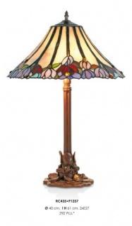 Handgefertigte Tiffany Hockerleuchte Tischleuchte Höhe 61 cm, Durchmesser 40 cm - Leuchte Lampe - Vorschau