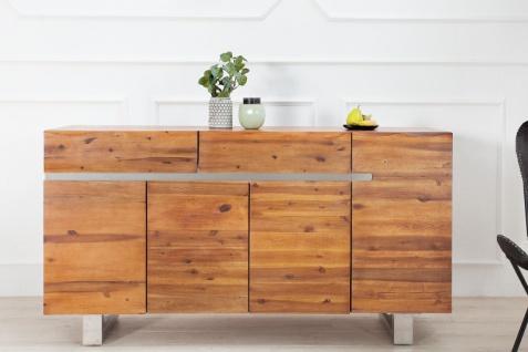 Casa Padrino Luxus Sideboard Braun B.170 x H.90 x T.45 - Fernsehschrank - Kommode - Handgefertigt aus massivem Akazienholz! - Vorschau 4