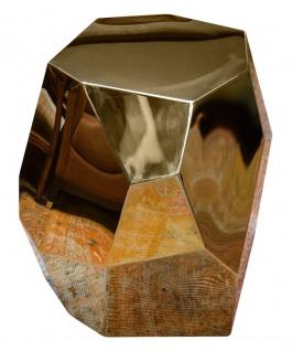 Casa Padrino Designer Beistelltisch Gold 65 x 50 x H. 60 cm - Designer Kollektion - Vorschau 2