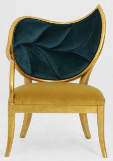 Casa Padrino Luxus Art Deco Sessel Dunkelgrün / Gold / Antik Gold - Handgefertigter Massivholz Lounge Sessel mit edlem Samtstoff - Art Deco Wohnzimmer Möbel