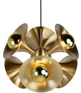 Casa Padrino Luxus Hängeleuchte Messingfarben 55 x 55 x H. 53 cm - Messing Pendelleuchte - Wohnzimmer Lampe - Luxus Kollektion - Vorschau 2