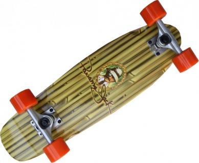 Oldschool Skateboard Profi Wood Cruiser 70s Style Panama Jack 61x 18 cm - Short Longboard