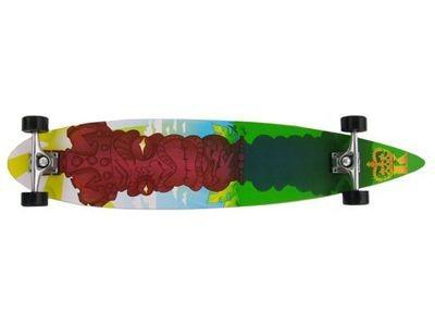 Krown Longboard Komplettboard Skateboard God Of Tiki Pintail mit koston Kugellagern