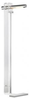 Casa Padrino Designer LED Stehleuchte Silber 37, 5 x 25, 4 x H. 111, 8 cm - Moderne Stehlampe - Wohnzimmer Lampe - Luxus Qualität