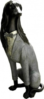 Casa Padrino Designer Barock Hund aus Polyresin Hundefigur - Edel und Prunkvoll ca 54cm