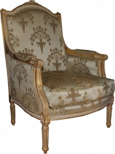 Casa Padrino Barock Lounge Thron Sessel Empire - Limited Edition