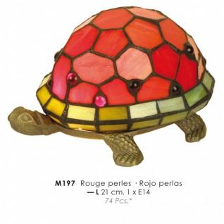 Casa Padrino Tiffany Tischleuchte Schildkröte Rot Ø 21cm - Tiffany Deko Lampen