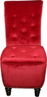 Casa Padrino Designer Chesterfield Esszimmer Stuhl Bordeaux Rot / Braun - Vorschau 4