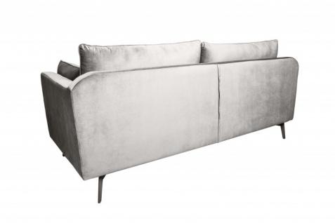 Casa Padrino Designer Wohnzimmer Sofa Silbergrau 210 x 85 x H. 90 cm - Designer Möbel - Vorschau 4