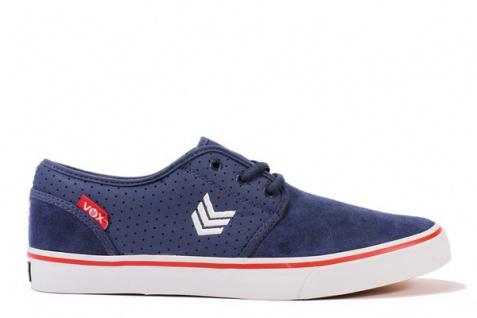 Vox Skateboard Schuhe Slacker Blau/Rot/Weiß
