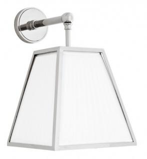 Casa Padrino Luxus Wandleuchte Laterne Weiß vernickeltes Metall - Wand Leuchte Lampe