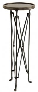 Casa Padrino Beistelltisch in rotguss mit Granitplatte 36 x H. 100 cm - Luxus Qualität