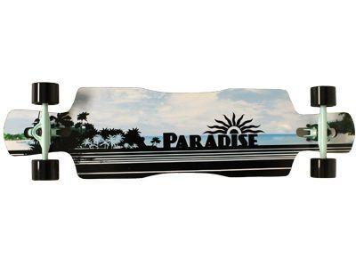 Paradise Black Ocean Drop Trough Complete Longboard - Long Skateboard Komplett Komplettboard - Vorschau