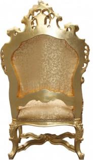 Casa Padrino Barock Luxus Thron Sessel Gold Muster/Gold - Barock Möbel Thron Königssessel - Limited Edition - Vorschau 2