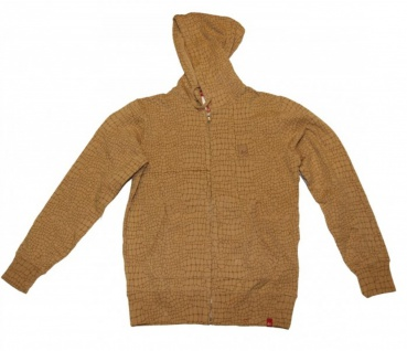 ES Skateboard Hoodie Zip sweater Hell Brown