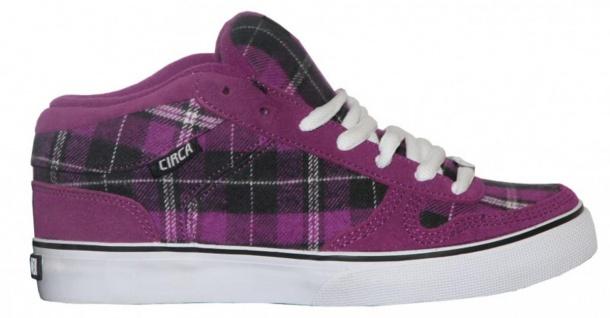 Circa Skateboard Schuhe 8 Track Purple/White/ Black Plaid Sneakers Shoes - Vorschau 1