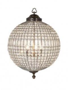 Casa Padrino Luxus Kronleuchter - Luxus Hängeleuchte Antik Messing Durchmesser 47 x H 64 cm