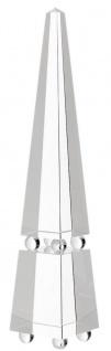 Casa Padrino Luxus Deko Kristallglas Obelisk 10 x 10 x H. 52 cm - Deko Accessoires - Luxus Qualität