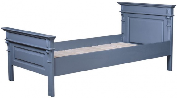 Casa Padrino Landhausstil Bett Blau - Verschiedene Größen - Massivholz Schlafzimmermöbel