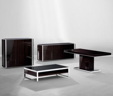 Casa Padrino Art Deco Luxus Couchtisch Ebenholz 140 x 80 x H. 35 cm - Wohnzimmer Salon Tisch - Luxus Möbel - Vorschau 5