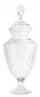 Casa Padrino Glas Vase mit Deckel 29 x H. 74 cm - Hotel Dekorationen