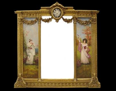 Casa Padrino Barock Spiegel Gold B. 152, 5 cm x H.146, 4 cm - Barock Wandspiegel