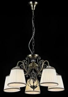 Casa Padrino Barock Decken Kristall Kronleuchter Bronze 58 x H 36 cm Antik Stil - Möbel Lüster Leuchter Hängeleuchte Hängelampe